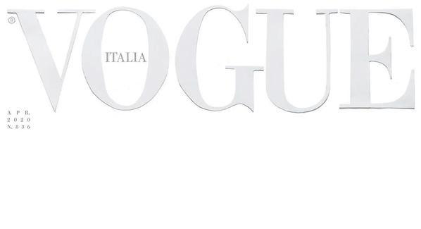 Ιταλική Vogue: Ένα λευκό εξώφυλλο για την «αγνή μάχη» υπέρ της ζωής