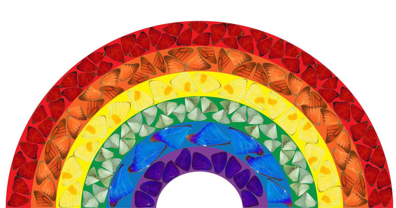 Ντάμιεν Χιρστ Butterfly Rainbow: Κατέβασε δωρεάν το ουράνιο τόξο για καλό σκοπό