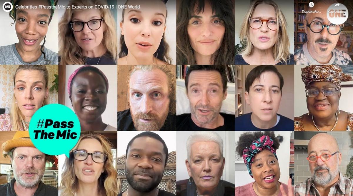 #PassTheMic: Οι celebrities βγαίνουν από τα social media τους για καλό σκοπό [vid]