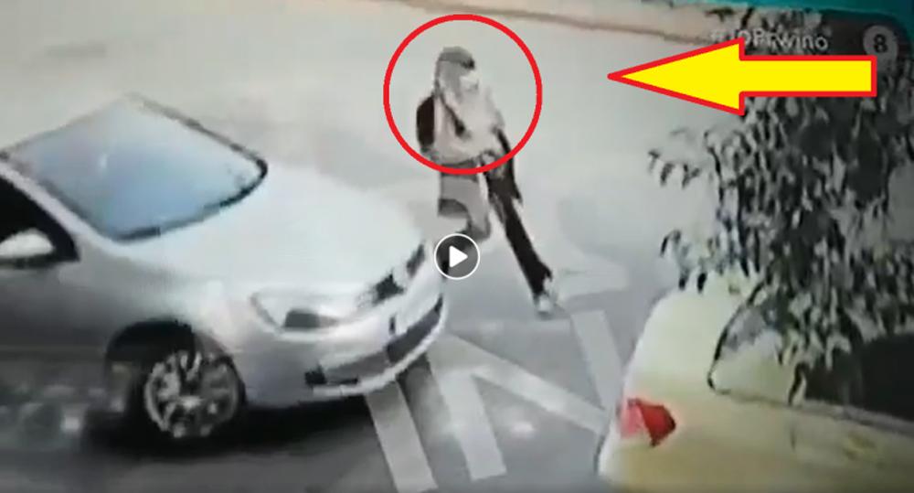 Επίθεση με Βιτριόλι: Βίντεο δείχνει τη δράστιδα να φεύγει τρέχοντας από το σημείο της επίθεσης [vid]