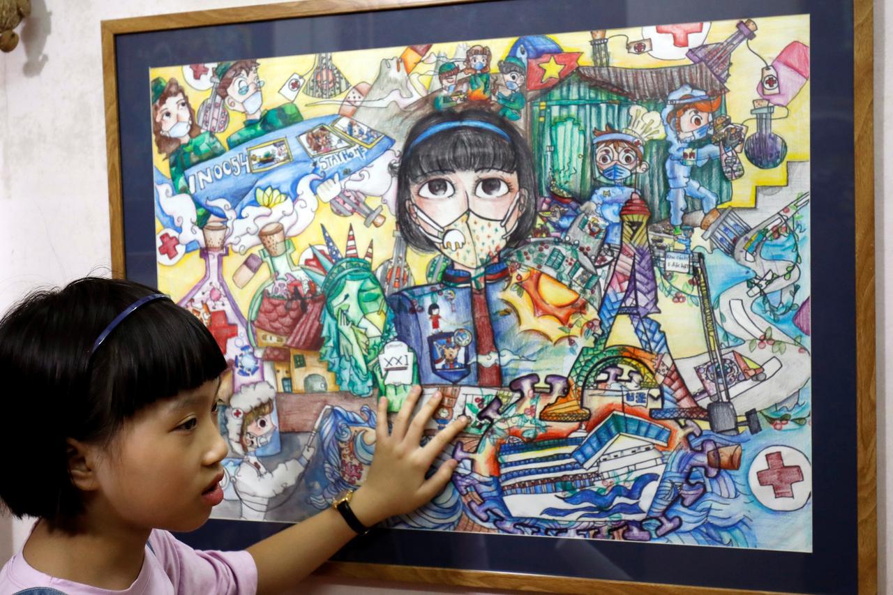 Ένα 10χρονο κορίτσι από το Βιετνάμ δημιουργεί τέχνη μέσα από τον κορονοϊό