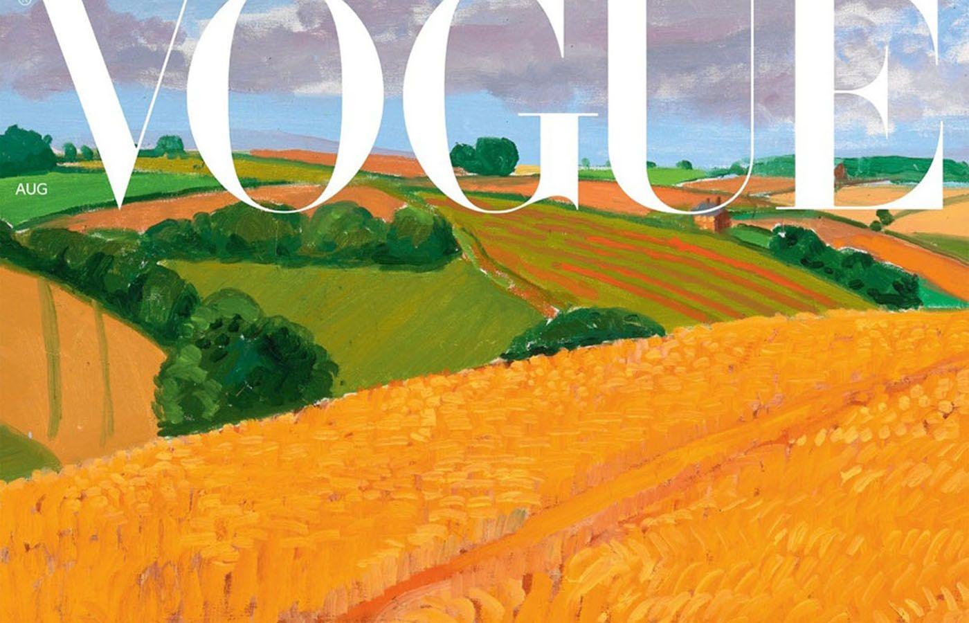 Ο David Hockney φιλοτεχνεί το εξώφυλλο της Βρετανικής Vogue και κάνει Reset στη νέα εποχή