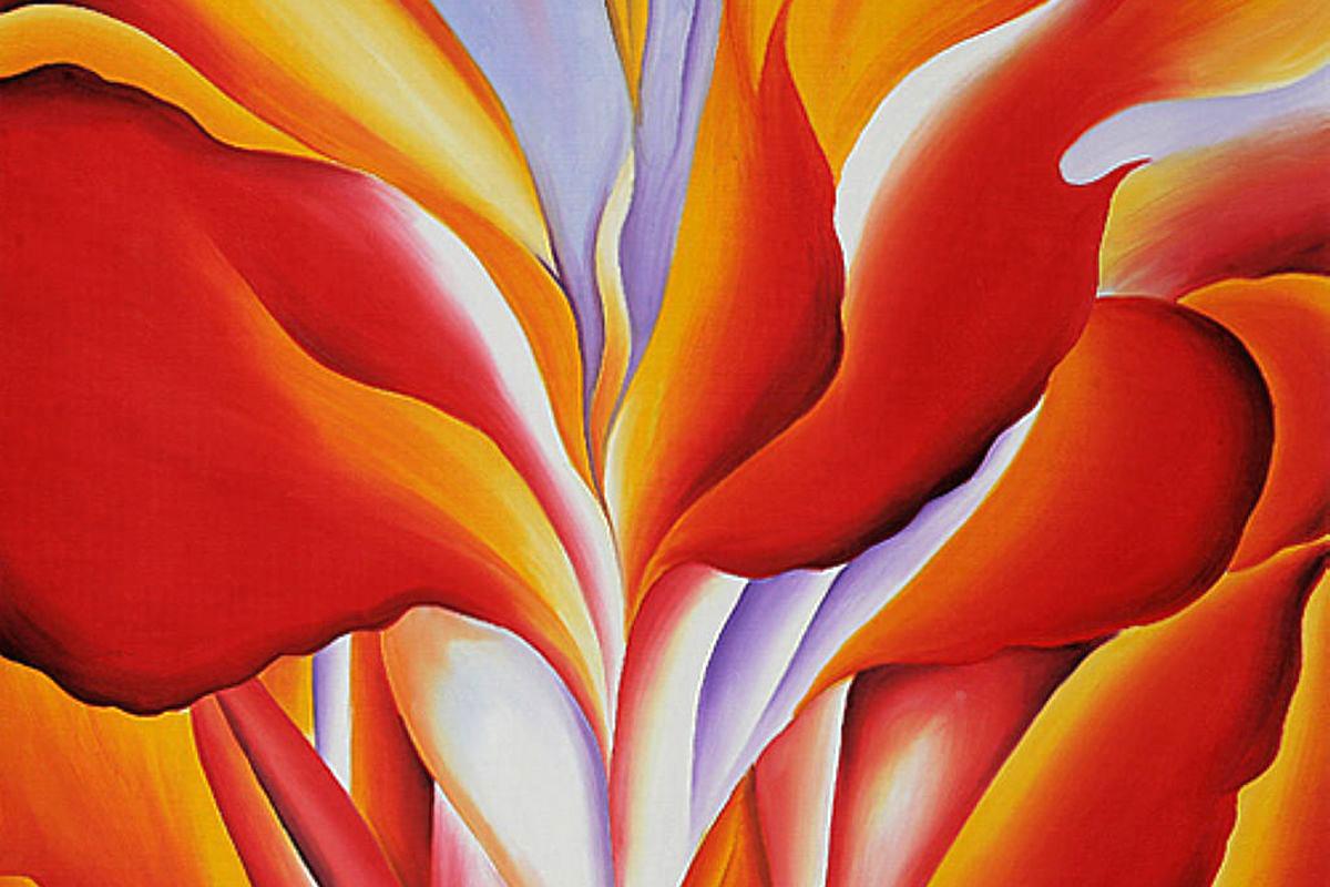 Georgia O'Keeffe: Λουλούδια και χρώματα γεμίζουν το διαδίκτυο