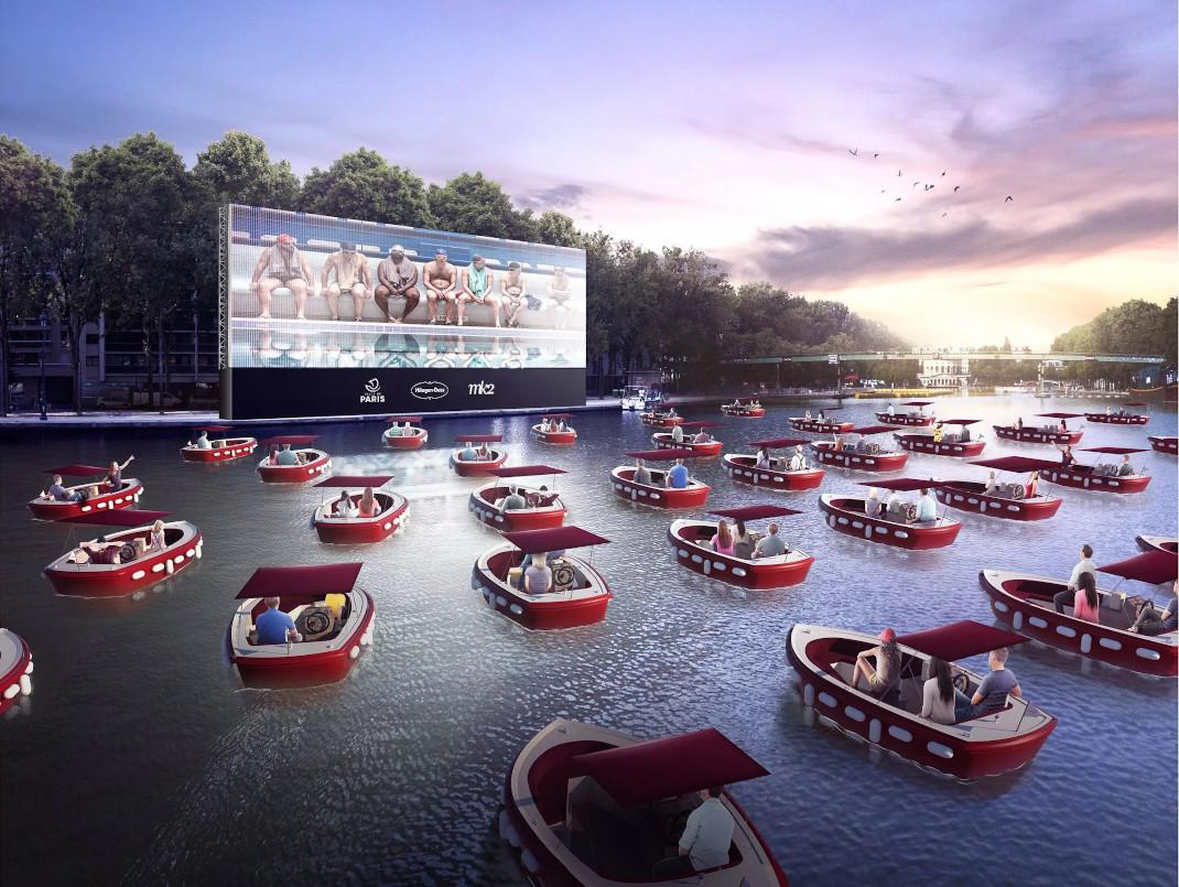 «Cinéma sur l'eau»: Ένα πλωτό σινεμά στον Σηκουάνα, υπόσχεται τις πιο ρομαντικές βραδιές