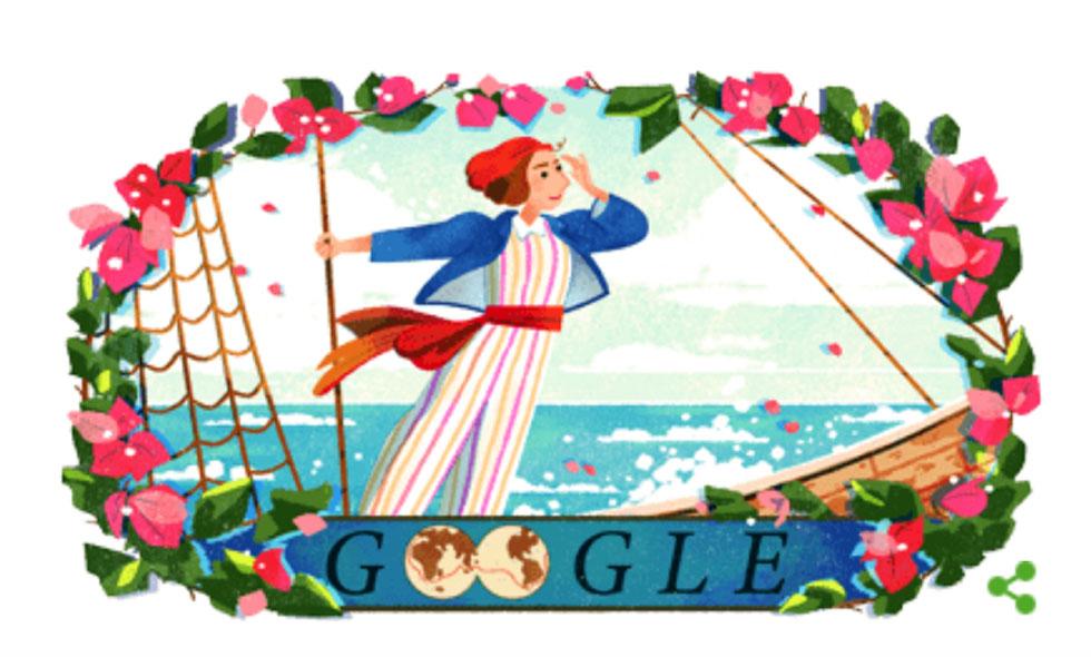Jeanne Baret: Το doodle της Google τιμά την πρώτη γυναίκα που έκανε τον περίπλου της Γης