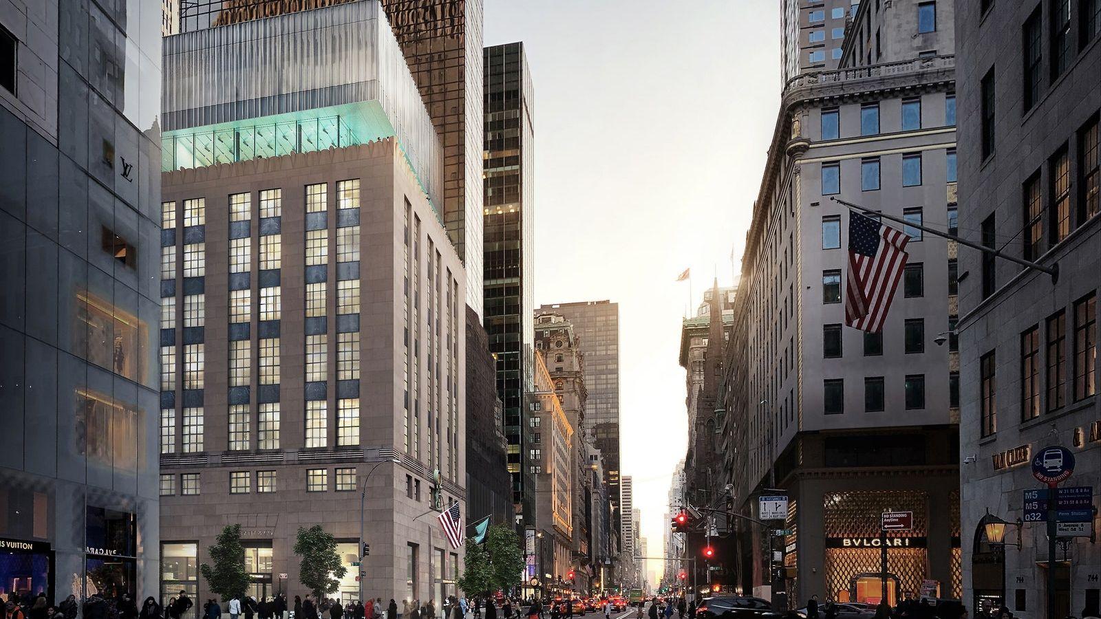 Tiffany's: Δημιουργική ανακαίνιση με γυάλινη οροφή δίνει νέα διάσταση στο ιστορικό κτίριο του 1940 στη Νέα Υόρκη