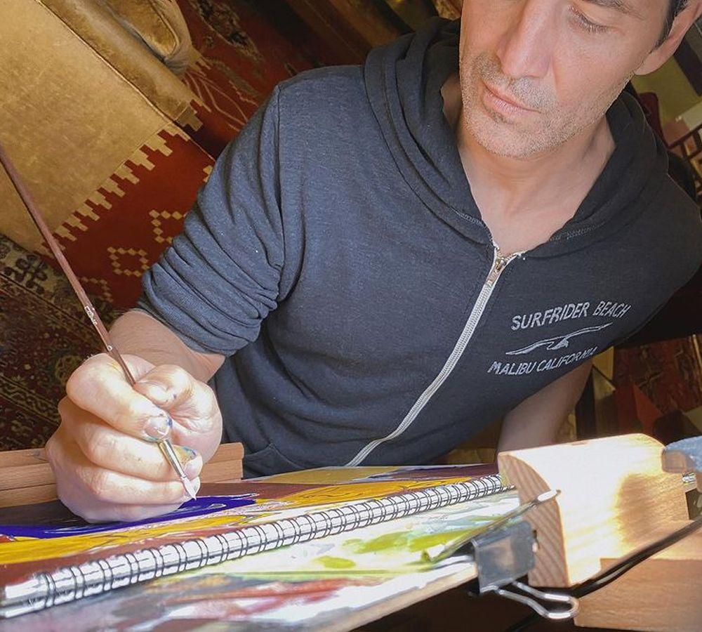Σάκης Ρουβάς: Έχει ταλέντο και στη ζωγραφική – Δείτε τα έργα του [pics]
