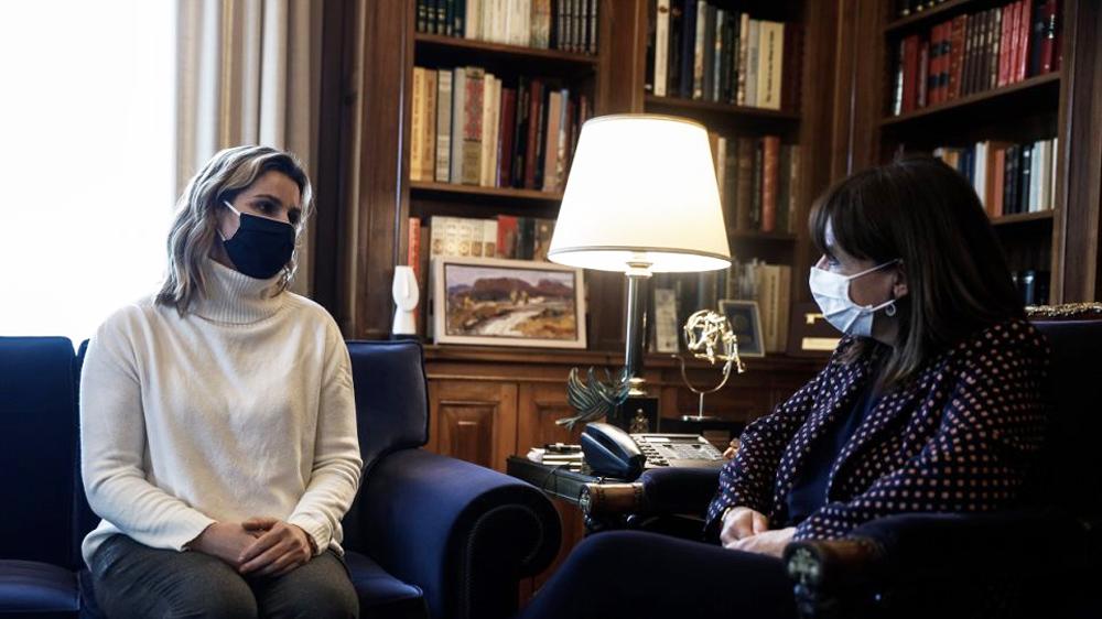 Σοφία Μπεκατώρου: Συνάντηση με την Κατερίνα Σακελλαροπούλου στο Προεδρικό Μέγαρο