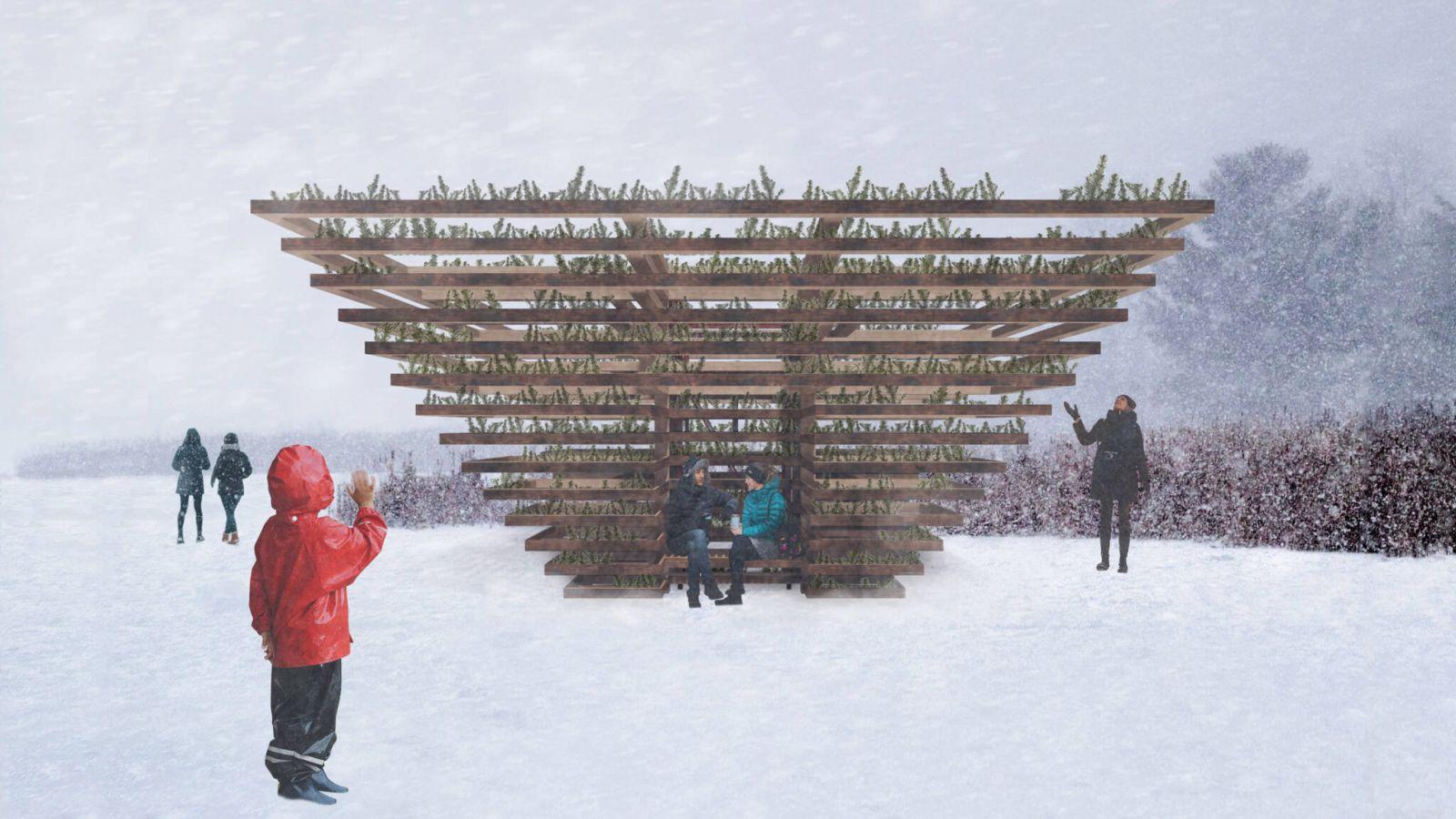 Τορόντο: Ο σχεδιασμός των Χώρων Αναμονής – Winter Stations είχε ως θέμα την κοινωνική αποστασιοποίηση
